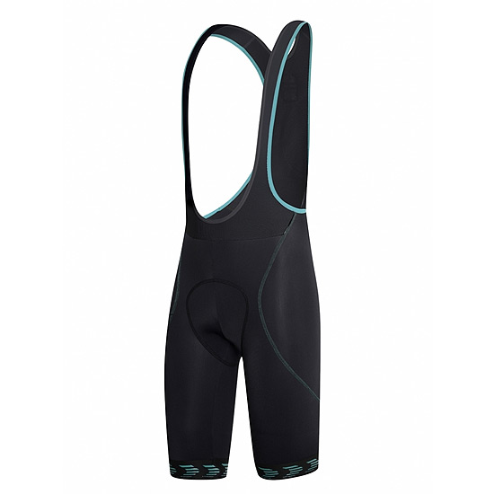 RH+ Shark Mens Bibshorts (Black-Water Green)