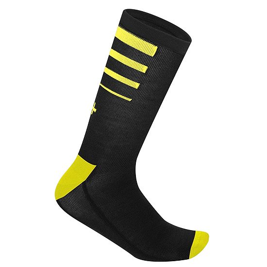 RH+ Feel 15 Sock (Black-Fluo Yellow)