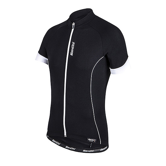 Santini Ora Mens Jersey (Black-White)