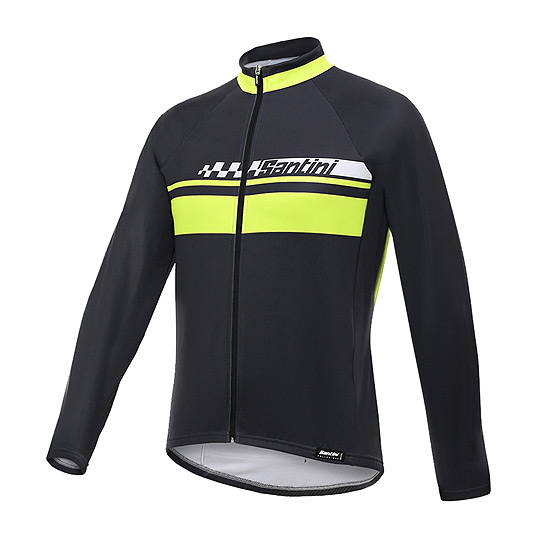 Santini Pilot Mens Thermo LS Jersey (Yellow)
