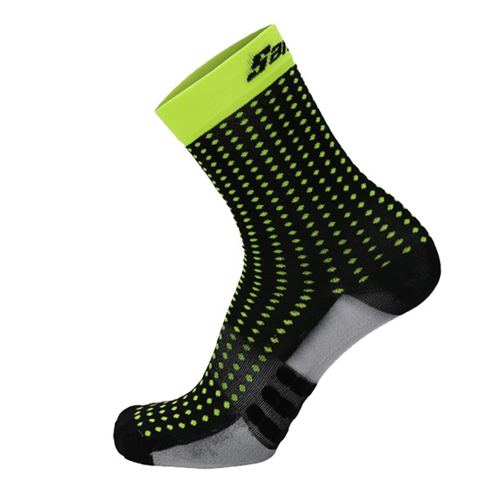 Santini Origine Socks (Black-Yellow)