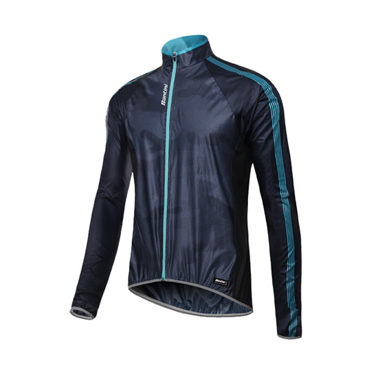 Santini Fine Mens Windbreaker Jacket (Nautica Blue)
