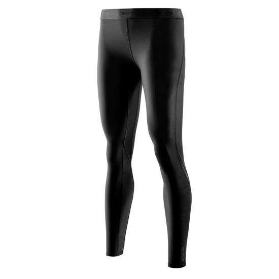 Skins DNAmic Core Womens Long Compression Tights (Black-Black)