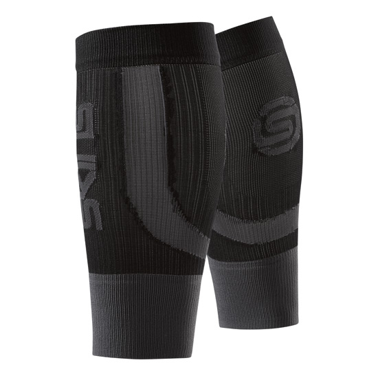 Skins Unisex Seamless Compression Calf Tights (Black-Pewter)