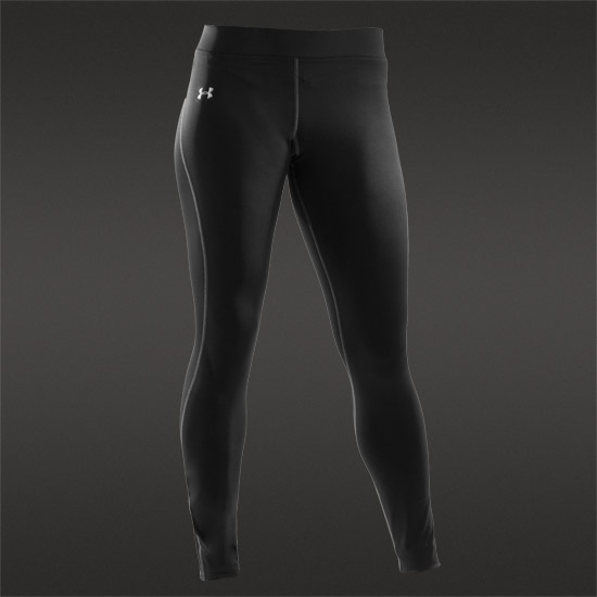 Under Armour Authentic Cold Gear Womens Compression Legging (Black)