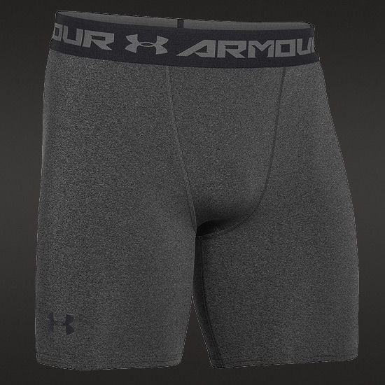 Under Armour HeatGear Compression Mens Shorts (Carbon Heather)