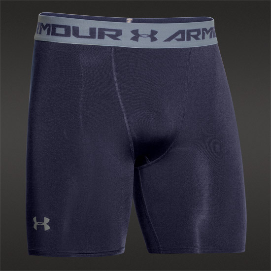 Under Armour HeatGear Compression Mens Shorts (Midnight-Steel)