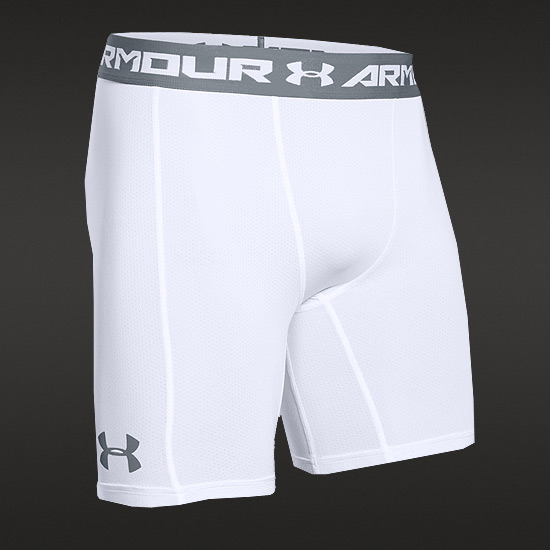 Under Armour CoolSwitch Compression Mens Short (White-Graphite)