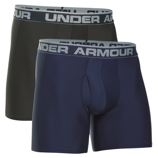 "Under Armour O Series 6"" Boxerjock 2-Pack (Midnight-Artillery)"