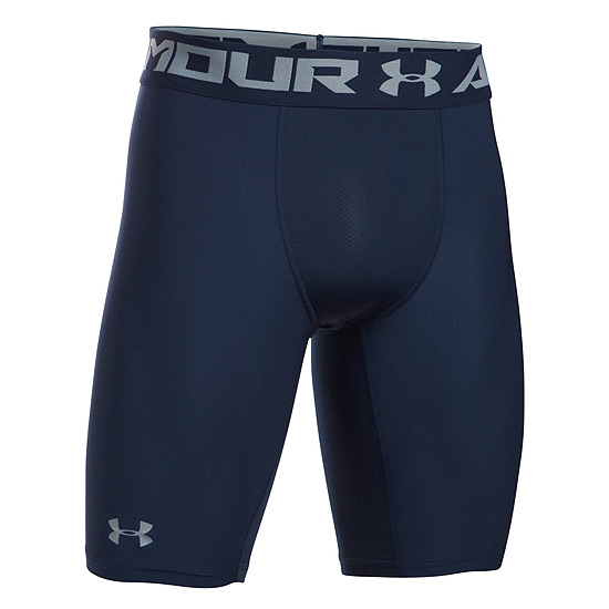 Under Armour HeatGear Compression 2.0 Mens Long Shorts (Midnight Navy-Steel)