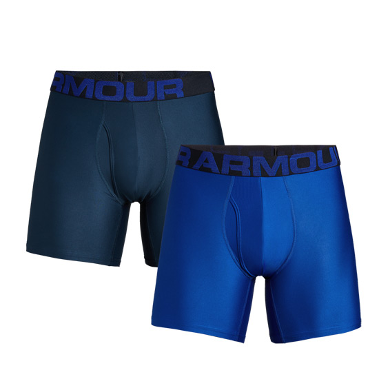 "Under Armour Tech 3"" Mens Boxerjock (Royal-Academy) 2 Pack"