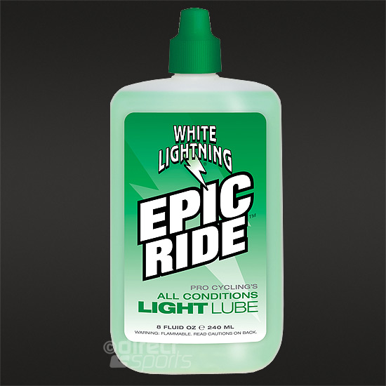 White Lightning Epic Ride Lube 8oz - 240ml Squeeze Bottle