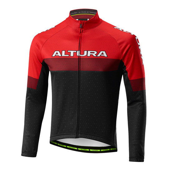 Altura Sportive 97 Long Sleeve Jersey (Red-Black)