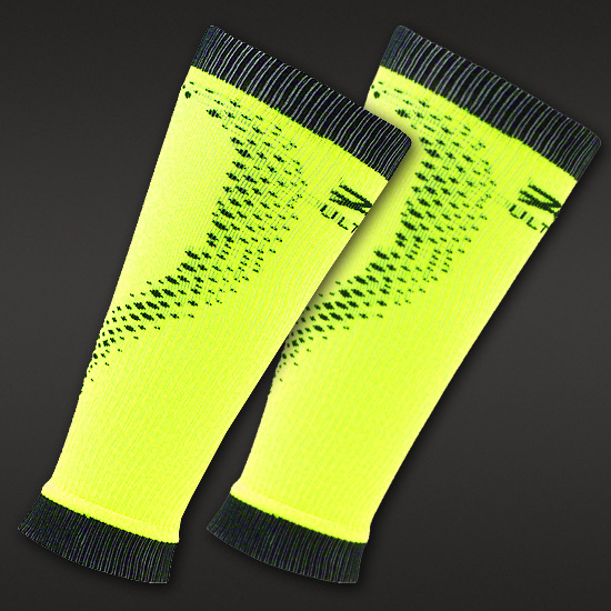 Zoot Performance Compression Rx 2.0 Calf Sleeves (Safety Yellow-Black)