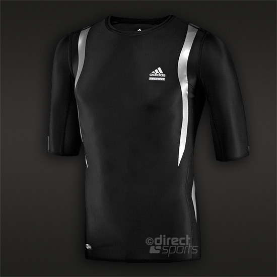 adidas Power Web Short Sleeve Mens Compression Top (Black)