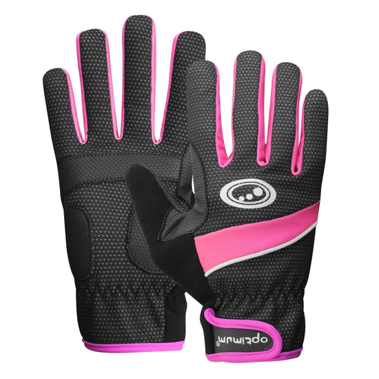 Optimum Womens Winter Gloves (Black-Pink)