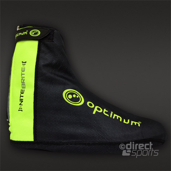Optimum Nite Brite Overshoes (Black-Hi-Vis Yellow)