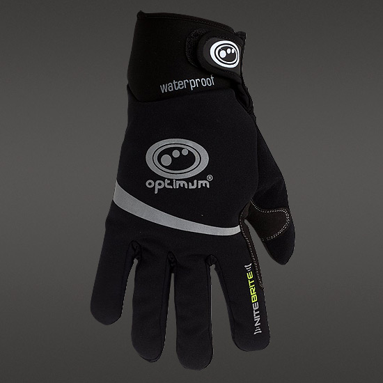 Optimum Nite Brite Waterproof Winter Gloves (Black)