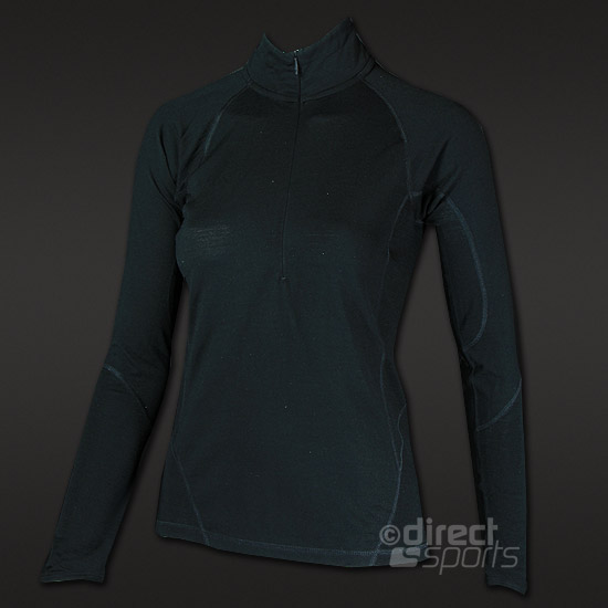 Smartwool Lightweight Womens Zip Top (Black)