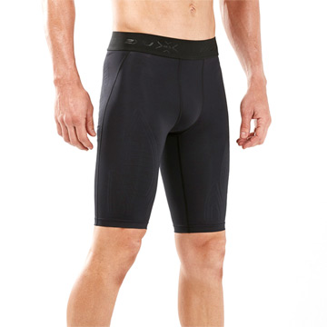 2XU MCS Cross Training Mens Compression Shorts (Black-Gold)